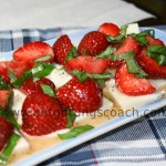 Erdbeeren mit Mozzarella